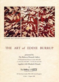 the art of eddie burrup exhibition catalogue