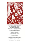the art of eddie burrup exhibition invitation